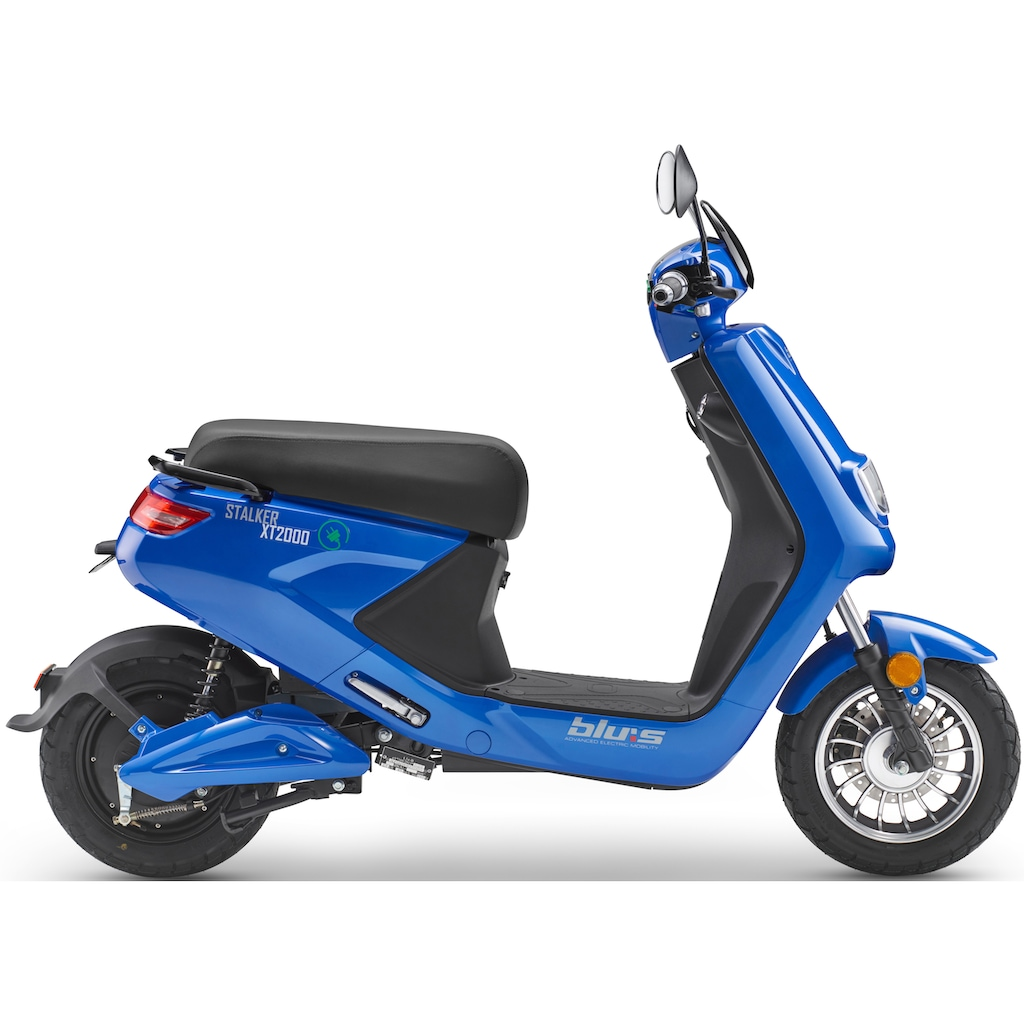 Blu:s E-Motorroller »XT2000«, 2000 W, 45 km/h, Euro 4, 71 km, 2,7 PS