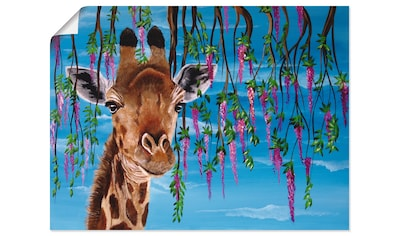 Artland Wandbild »Giraffe«, Wildtiere, (1 St.), in vielen Größen & Produktarten -... kaufen