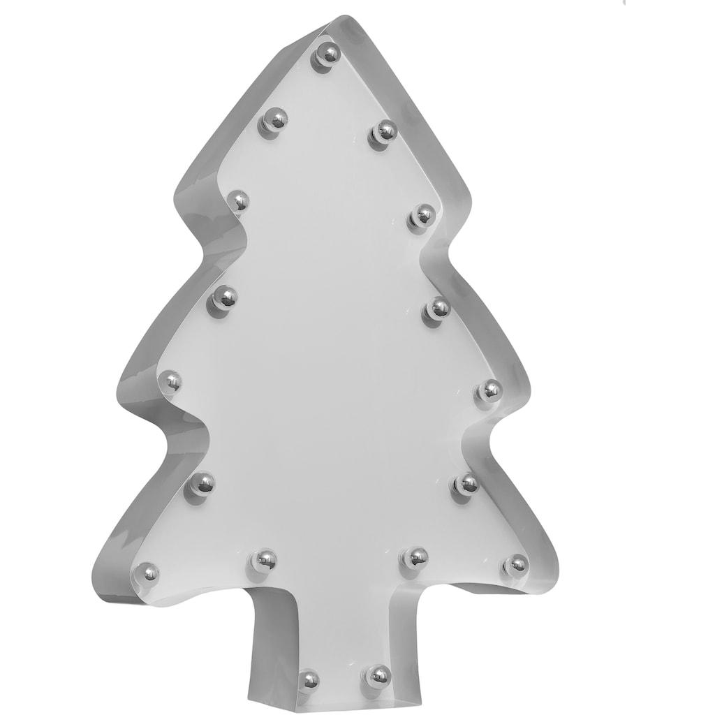 MARQUEE LIGHTS LED Dekolicht »Weihnachtsbaum«, E14, 1 St., Warmweiß, Wandlampe, Tischlampe Xmas-Tree mit 17 festverbauten LEDs - 82cm Breit und 122cm hoch