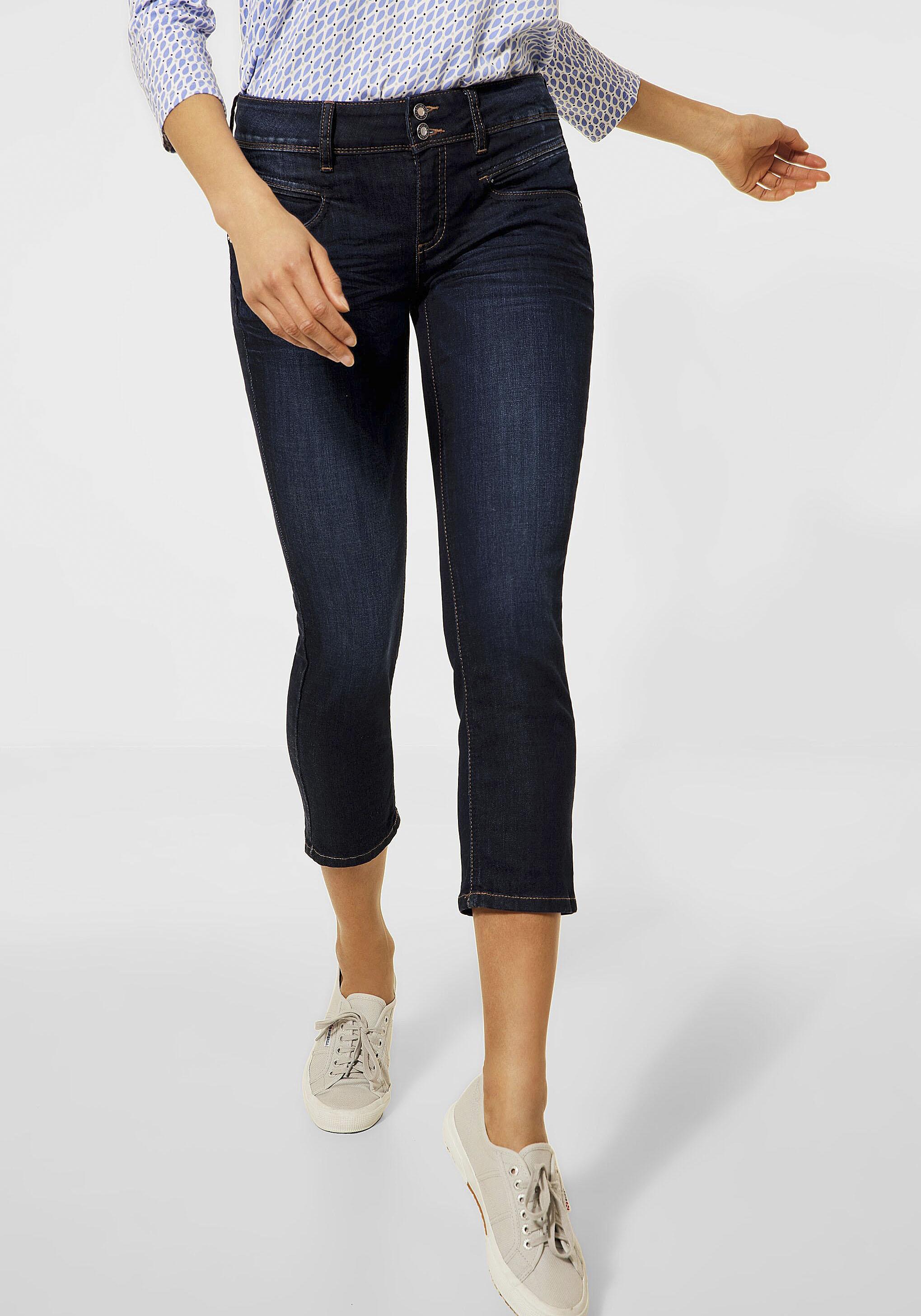 street one -  3/4-Jeans Jane, mit kontrastfarbenen Nähten