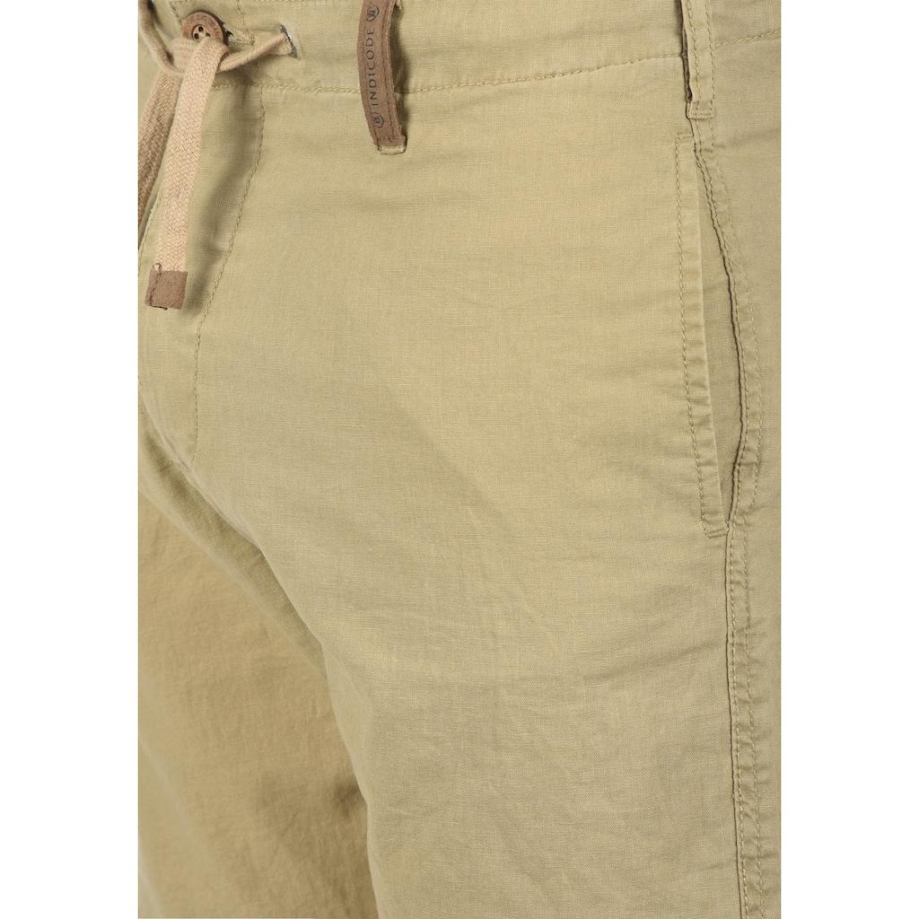 Indicode Leinenhose »Ives«, lange Hose mit Tunnelzug am Bund