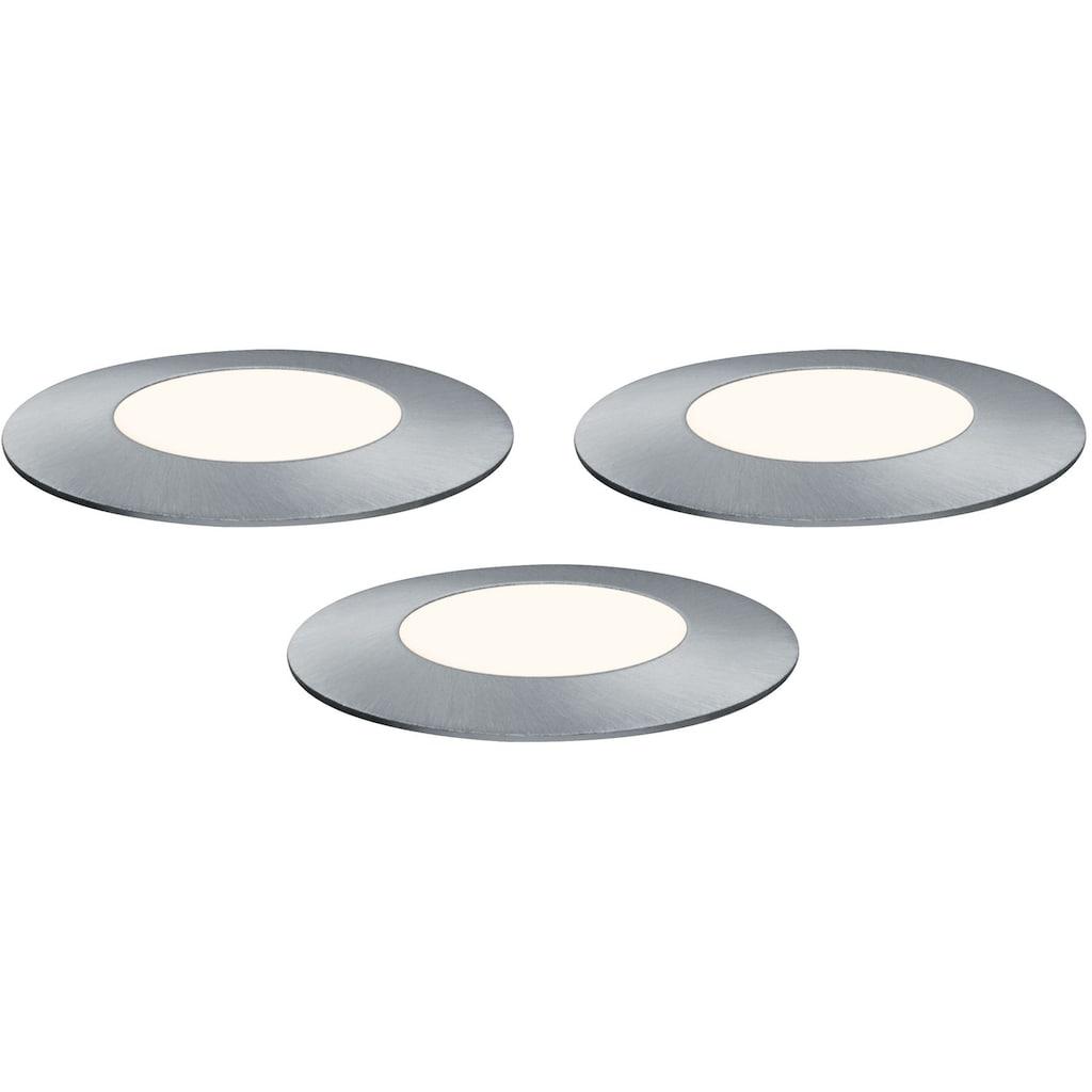 Paulmann LED Einbauleuchte »Outdoor Plug & Shine Ergänzungsset Floor Mini«, 4 St., Warmweiß, 3000K