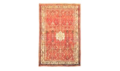 morgenland Wollteppich »Hosseinabad Teppich handgeknüpft orange«, rechteckig, 8 mm... kaufen
