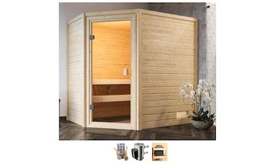 Karibu Sauna »Juli«, 3,6-kW-Plug & Play Ofen mit int. Steuerung kaufen