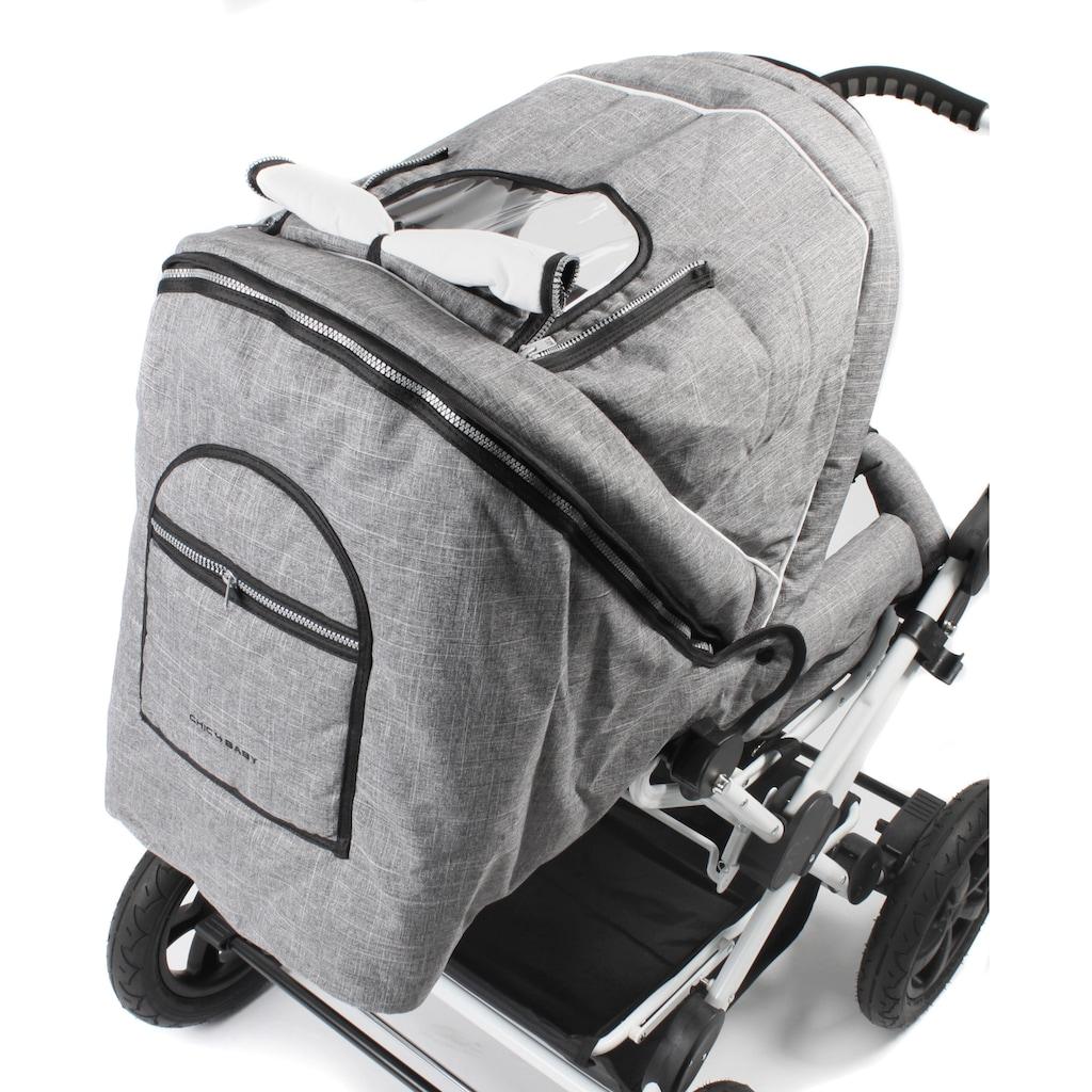 CHIC4BABY Kombi-Kinderwagen »Viva, Melange Grau«, 15 kg, ; Kinderwagen