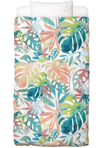 Juniqe Bettwäsche »Jungle Leaves Light«, In vielen weiteren Designs erhältlich kaufen