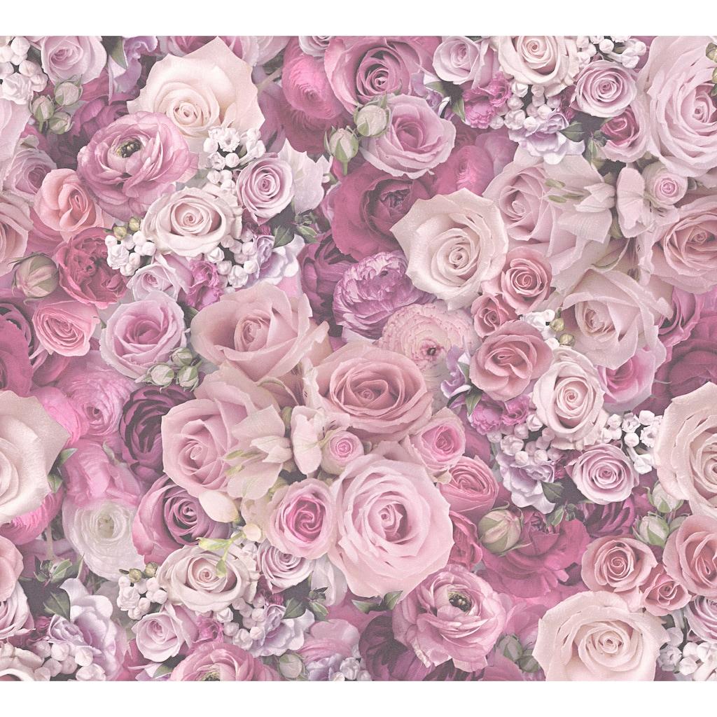 living walls Vinyltapete »Pop Up Panel 3D«, floral, Blumen, Rosen
