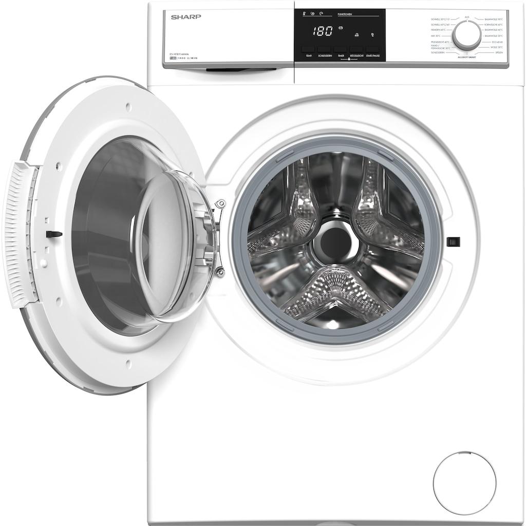 Sharp Waschmaschine »ES-HFB914AWA-DE«, ES-HFB914AWA-DE, 9 kg, 1400 U/min