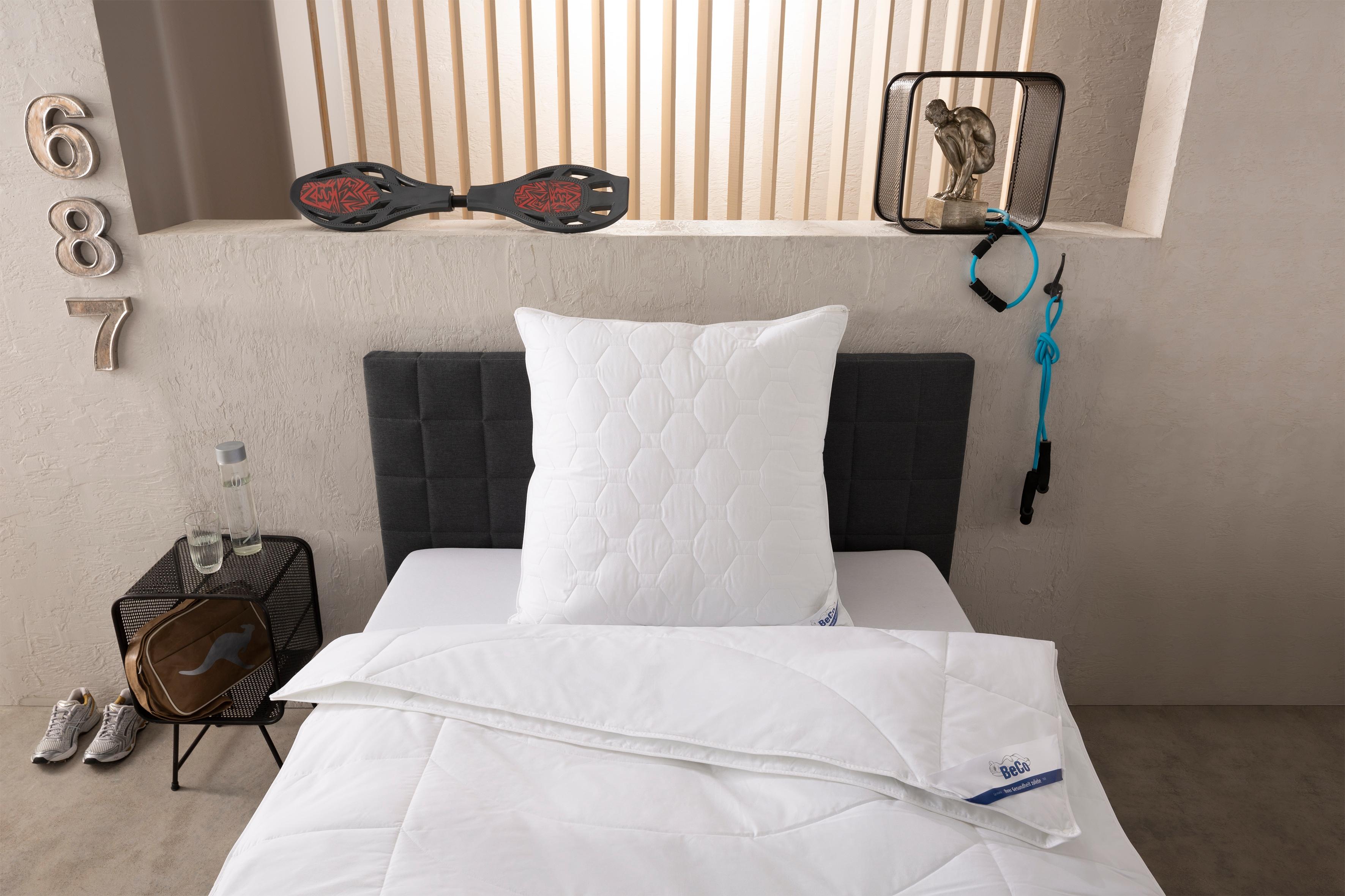 4-Jahreszeitenbett + Kunstfaserkissen BeCo Medibett Beco 4-Jahreszeiten | Schlafzimmer > Matratzen > Unterbetten | Weiß | Beco
