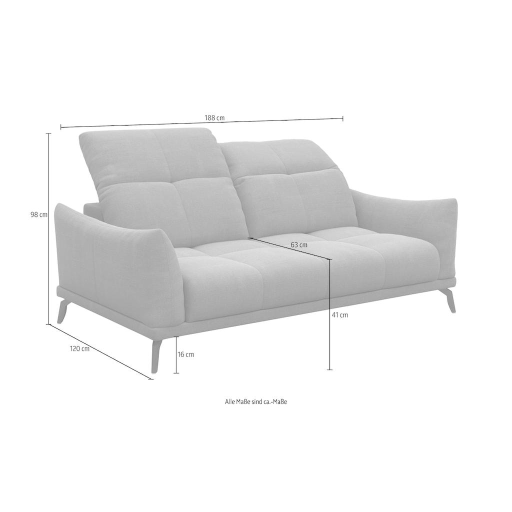 DELAVITA Sofa »Cabras«, 3-Sitzer, mit Kopfteilverstellung
