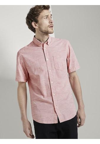 TOM TAILOR Kurzarmhemd »Gemustertes Kurzarm-Hemd mit Struktur« kaufen