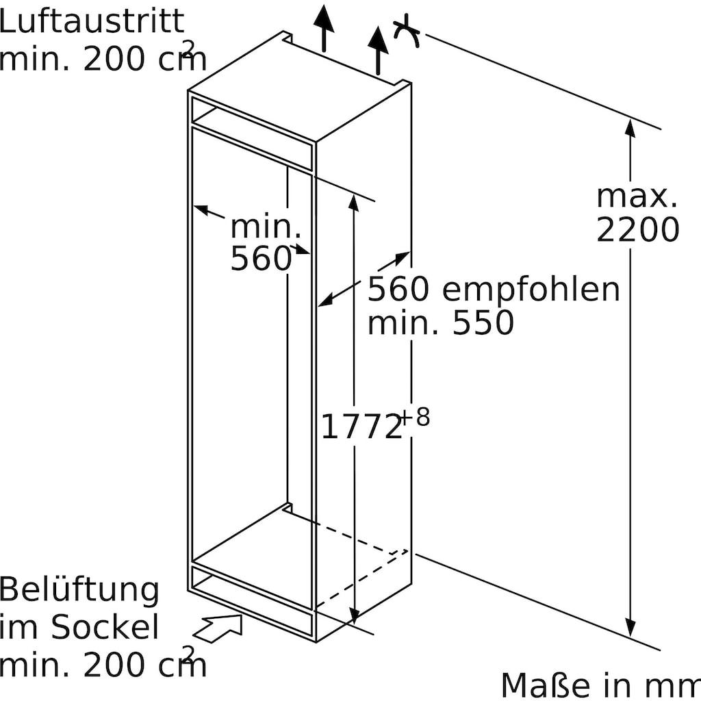 SIEMENS Einbaugefrierschrank »GI81NACF0«, iQ500, 177,2 cm hoch, 55,8 cm breit