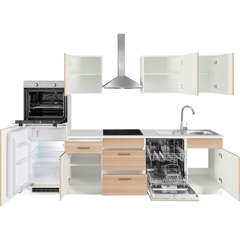 wiho Küchen Küchenzeile »Zell«, ohne E-Geräte, Breite 280 cm