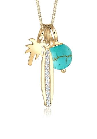 Elli Collierkettchen »Palme Surfbrett Swarovski® Kristalle 925 Silber« kaufen