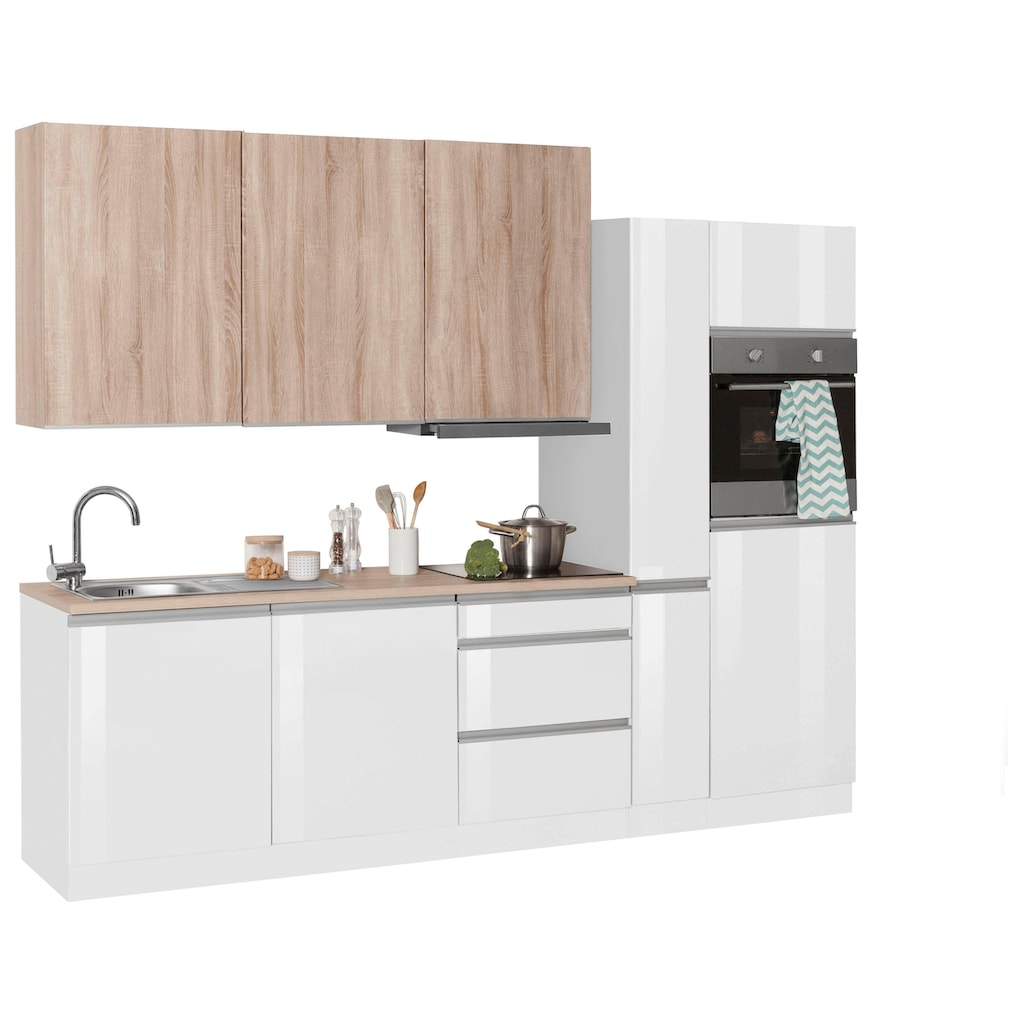 HELD MÖBEL Küchenzeile »Ohio«, mit E-Geräten, Breite 270 cm