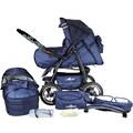 bergsteiger Kombi-Kinderwagen »Rio, marine blue, 3in1«, mit Lufträdern; Made in Europe; Kinderwagen