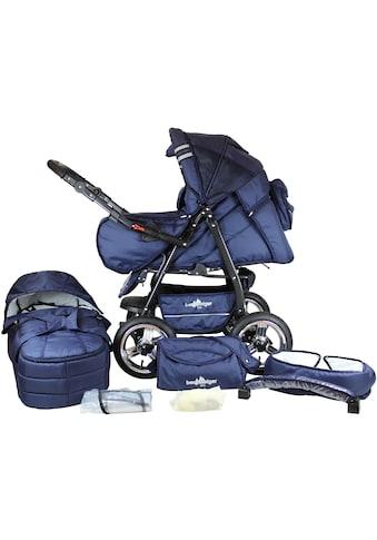 bergsteiger Kombi-Kinderwagen »Rio, marine blue, 3in1«, mit Lufträdern; Made in Europe kaufen
