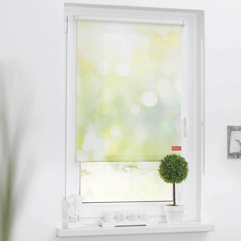 LICHTBLICK ORIGINAL Seitenzugrollo »Klemmfix Motiv Lichtspiel«, Lichtschutz, ohne Bohren, freihängend, bedruckt