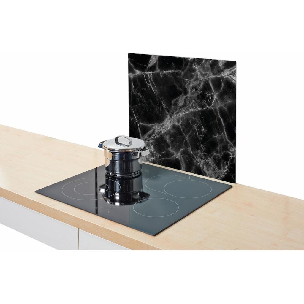 Zeller Present Herdblende-/Abdeckplatte »Marmor«, Silikonfüßen