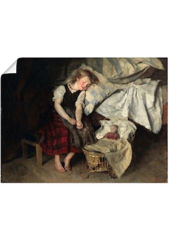 Artland Wandbild »Siebenschläfer. 1871«, Kind, (1 St.), in vielen Größen &... kaufen