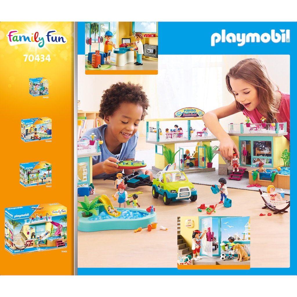 Playmobil® Konstruktions-Spielset »PLAYMO Beach Hotel (70434), Family Fun«, ; Made in Germany