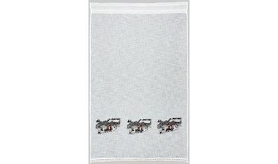 Gardine, »Wintermärchen«, HOSSNER  -  ART OF HOME DECO, Stangendurchzug 1 Stück kaufen