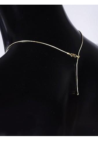Adelia´s Kette ohne Anhänger »585 Gold Anhänger mit Zirkonia - Set mit Halskette«, Goldschmuck für Damen kaufen