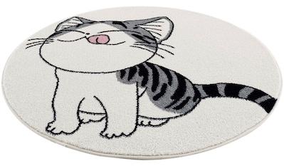 Carpet City Kinderteppich »Savanna 9373«, rund, 11 mm Höhe, Kurzflorteppich für alle... kaufen