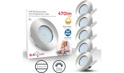 B.K.Licht LED Einbauleuchte »Iris V«, LED-Board, 5 St., Warmweiß, LED Einbaustrahler... kaufen