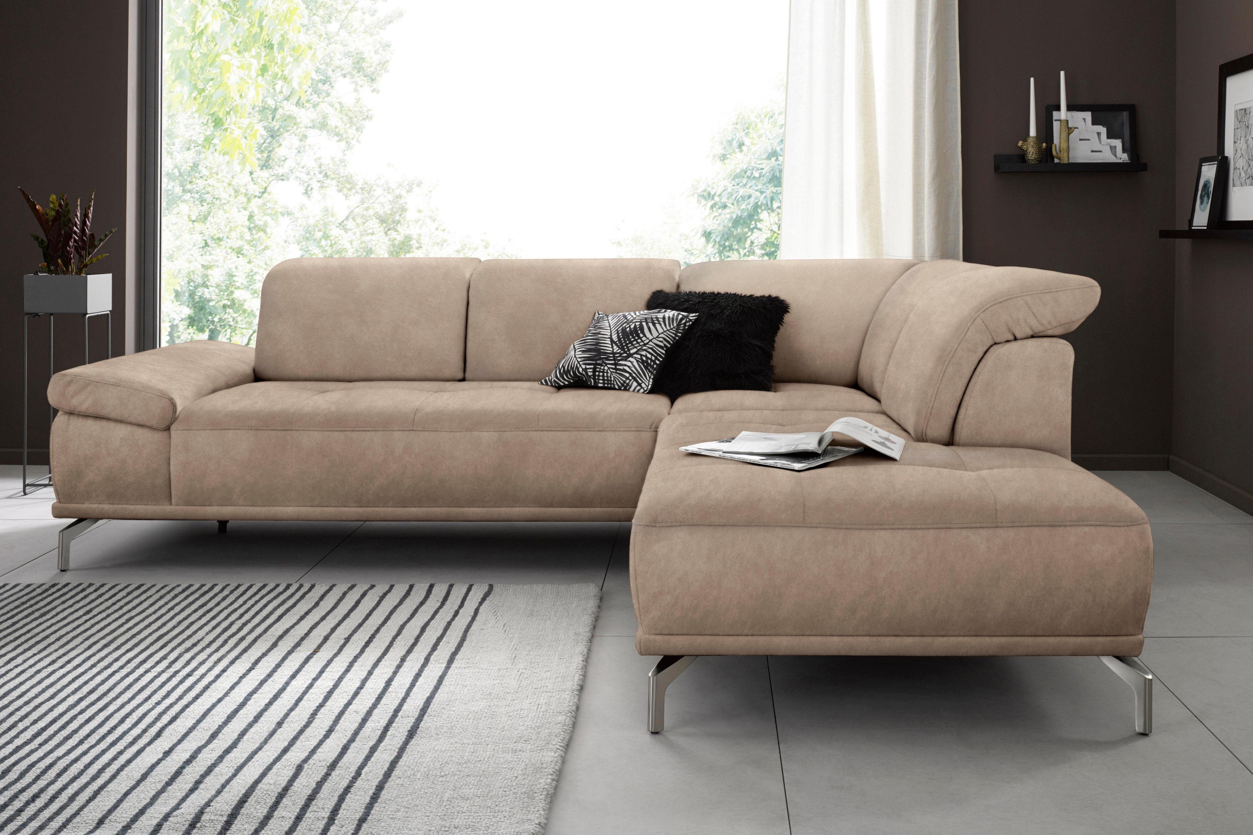 Places of Style Ecksofa Caluna   Wohnzimmer > Sofas & Couches > Ecksofas & Eckcouches   Beige   Microfaser   Places Of Style