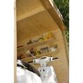 Kiehn-Holz Set: Gartenhaus »Schüberg 1«, BxT: 386x226 cm, Anbaudach mit Rückwand und Fußboden