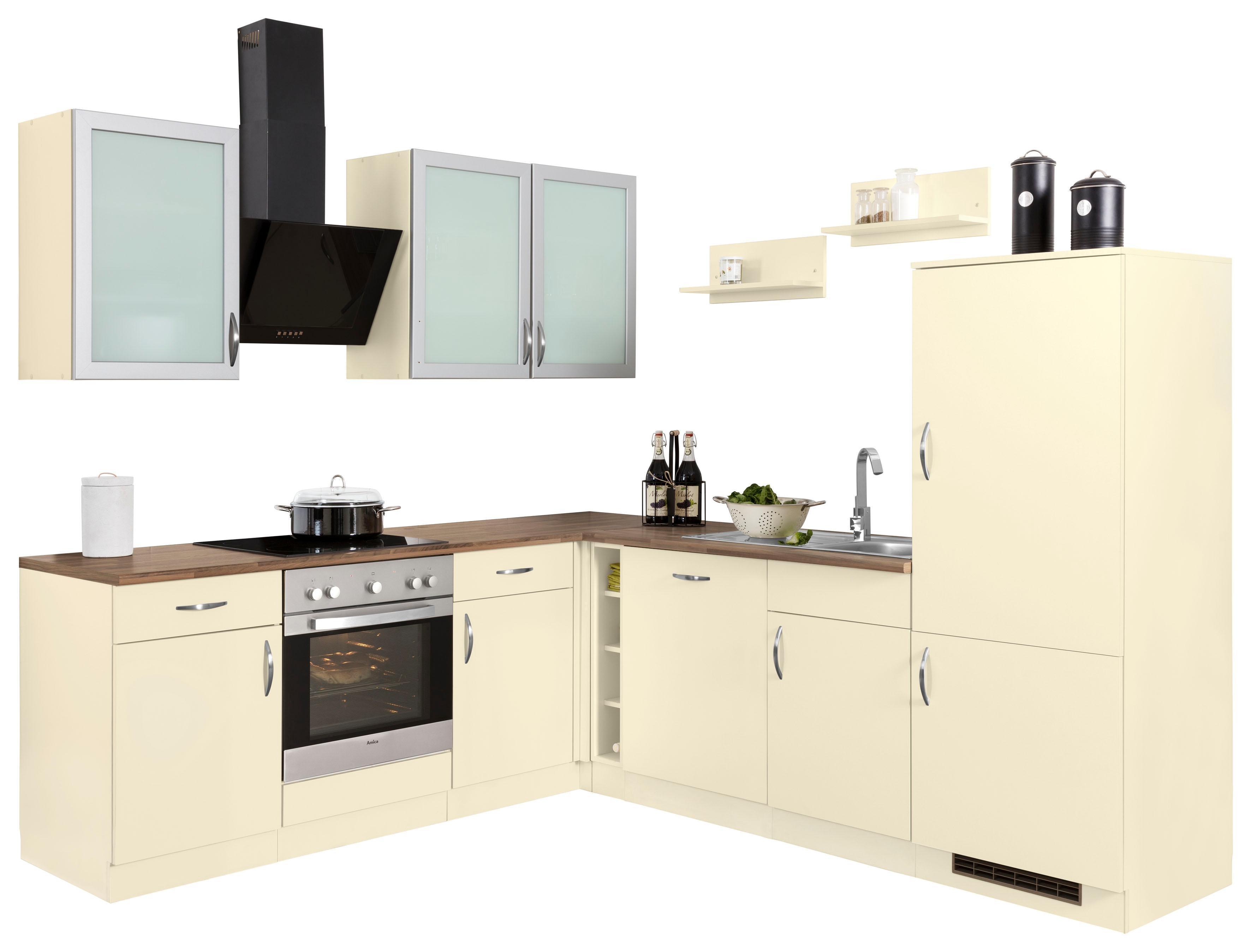 wiho Küchen Winkelküche Peru mit E-Geräten Stellbreite 220 x 245 cm