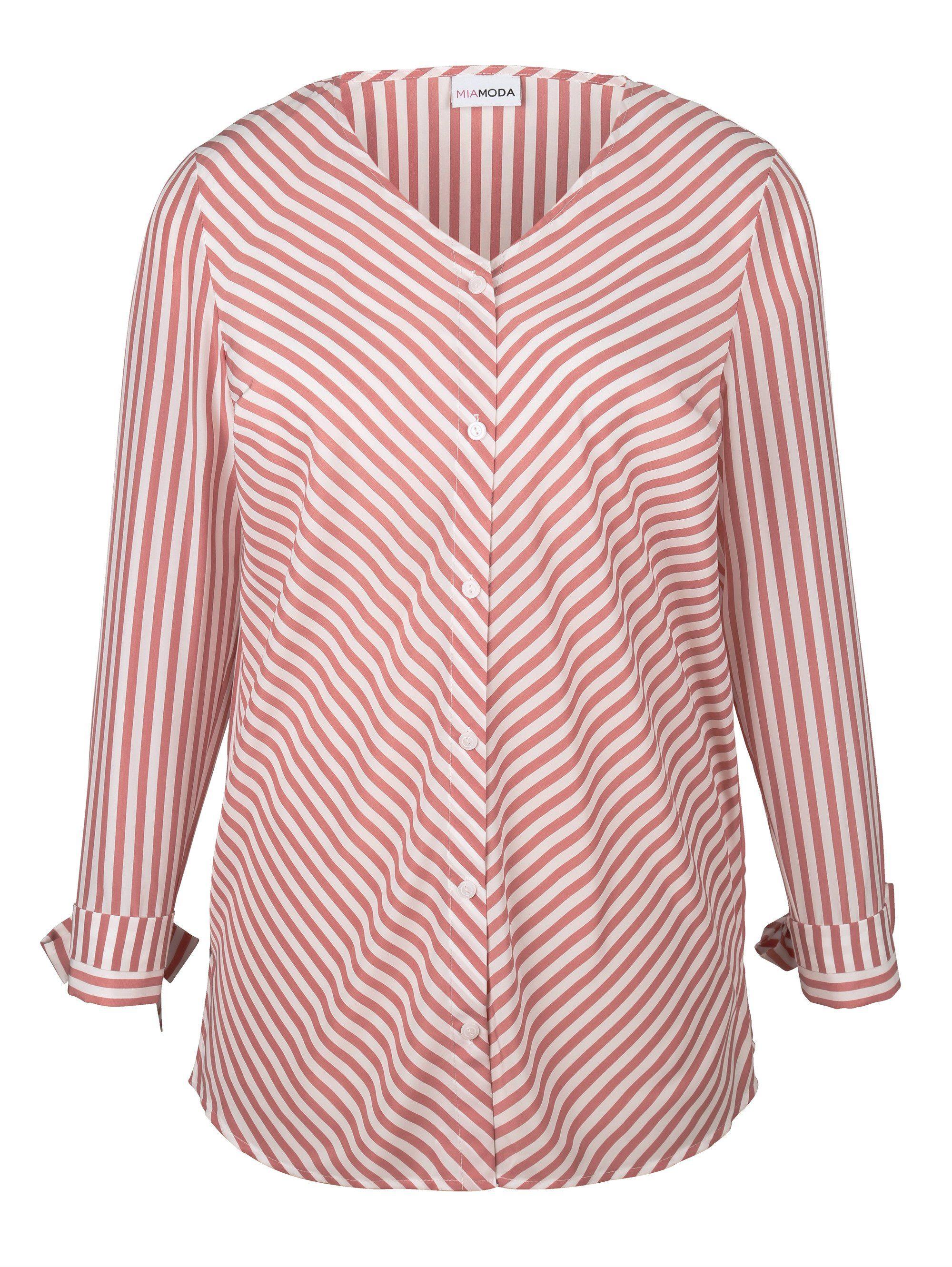 MIAMODA Bluse im Streifen Design