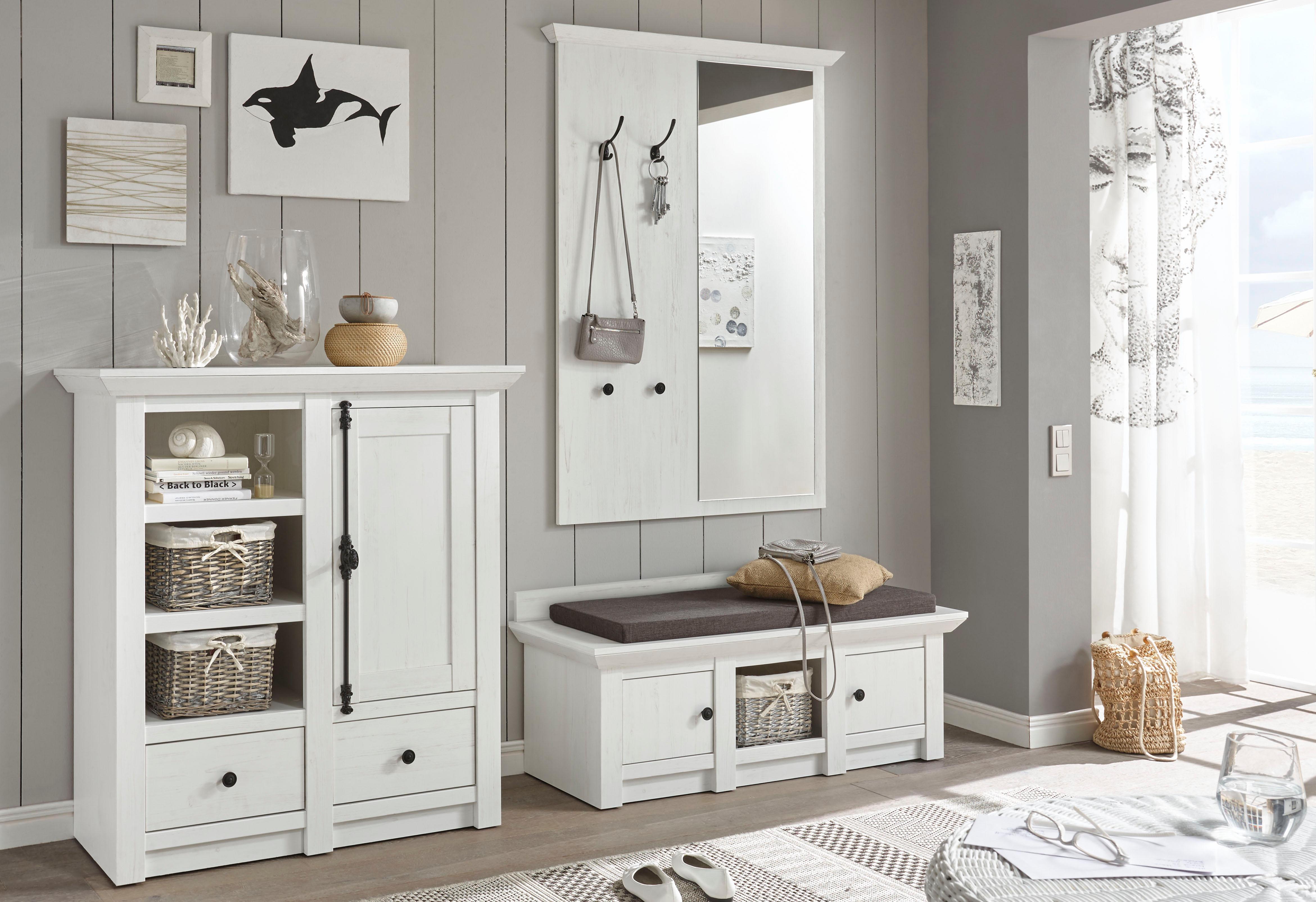 Home affaire Garderoben-Set California, (Set, 3 tlg.), Set aus: Sitzbank, P günstig online kaufen