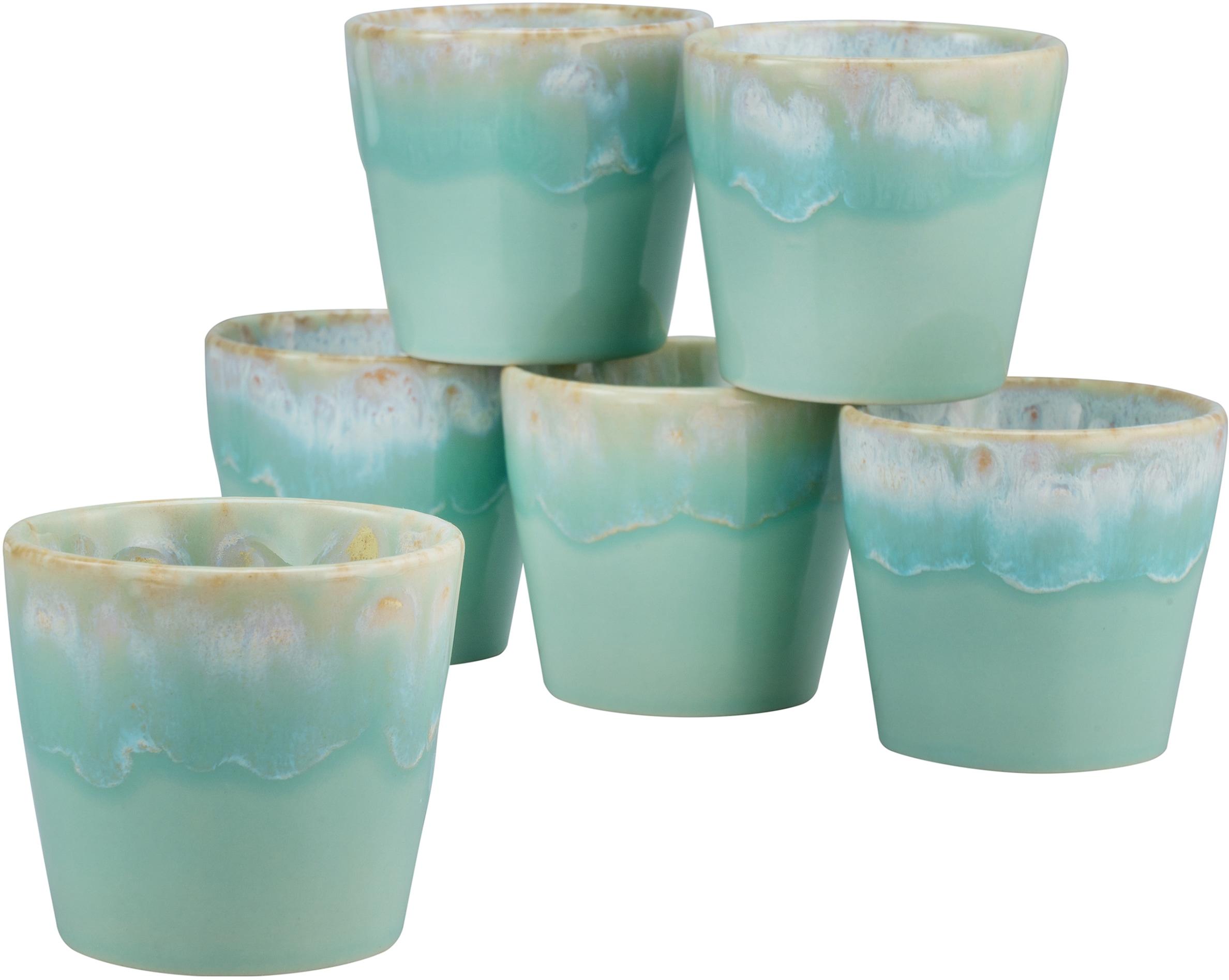 CreaTable Espressotasse Grespresso Espresso, (Set, 6 tlg.), 9 cl, 6-teilig blau Becher Tassen Geschirr, Porzellan Tischaccessoires Haushaltswaren