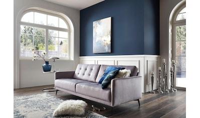 Leonique 3-Sitzer »Esterel«, mit raffinierter Steppung im Rücken und schmalen Metallfüßen, in modernen Farben kaufen