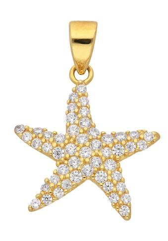 Adelia´s Kettenanhänger »333 Gold Anhänger Seestern mit Zirkonia«, Goldschmuck für Damen kaufen