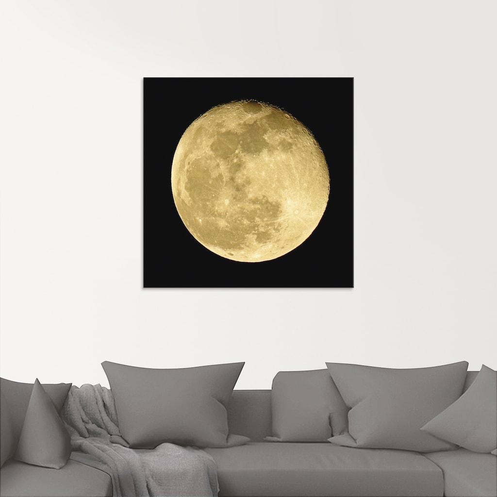 Artland Glasbild »Mond«, Weltraum, (1 St.)