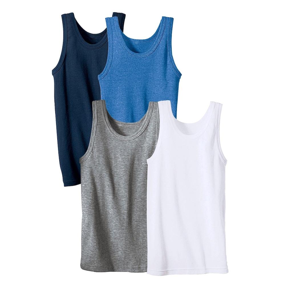 Unterhemd, schlichtes Basic aus Feinripp