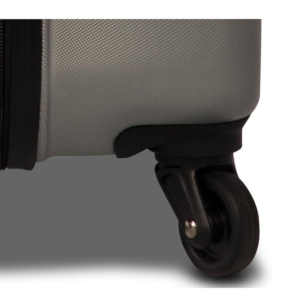 fabrizio® Hartschalen-Trolley »Formation M, 67 cm, Silberfarben«, 4 Rollen