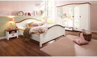 Home affaire Schlafzimmer-Set »Konrad«, (Set, 5 tlg.), mit 5-trg. Kleiderschrank, Bett 180/200 cm und 2 Nachttischen kaufen