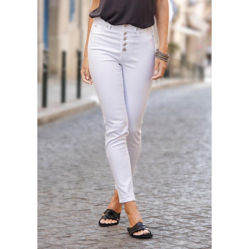 Buffalo High-waist-Jeans, mit modischer Knopfleiste