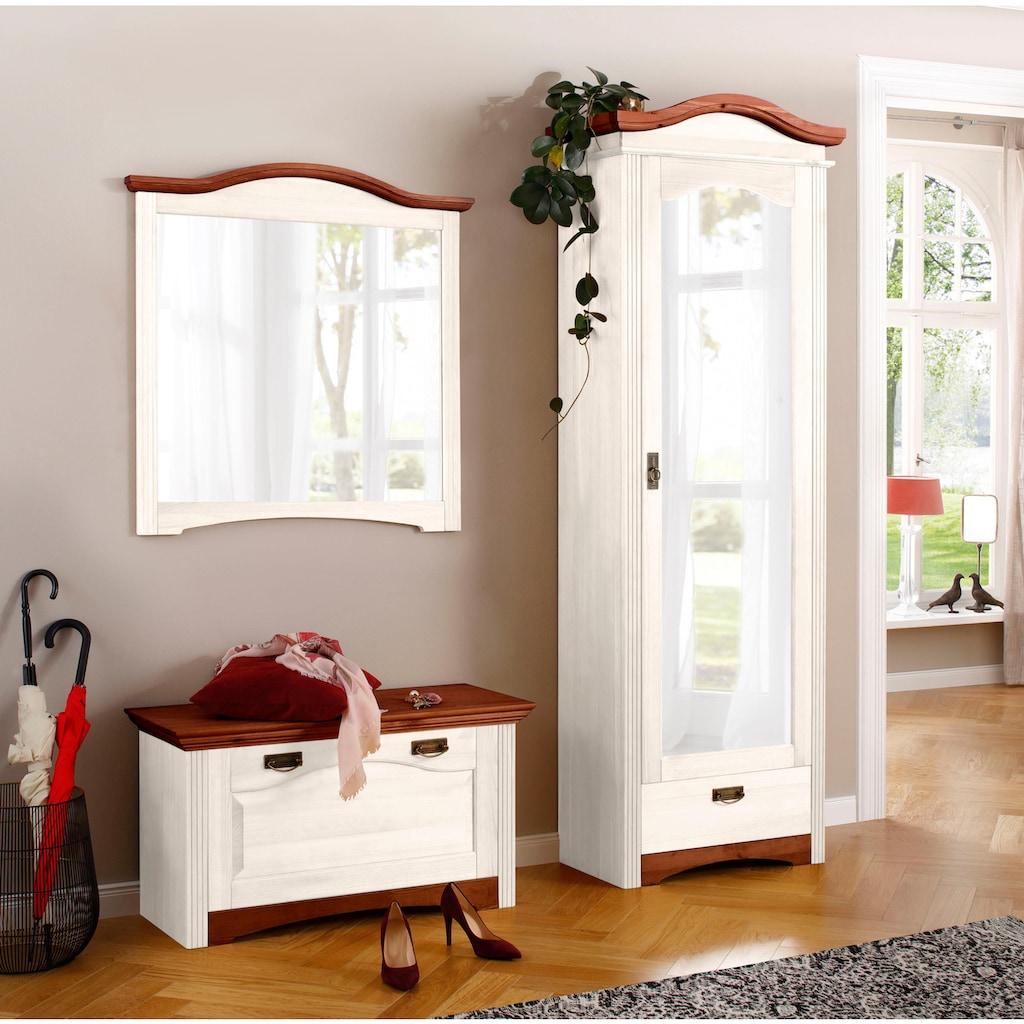 Home affaire Garderobenschrank »Konrad«, aus schönem massivem Kiefernholz, in toller Holzoptik