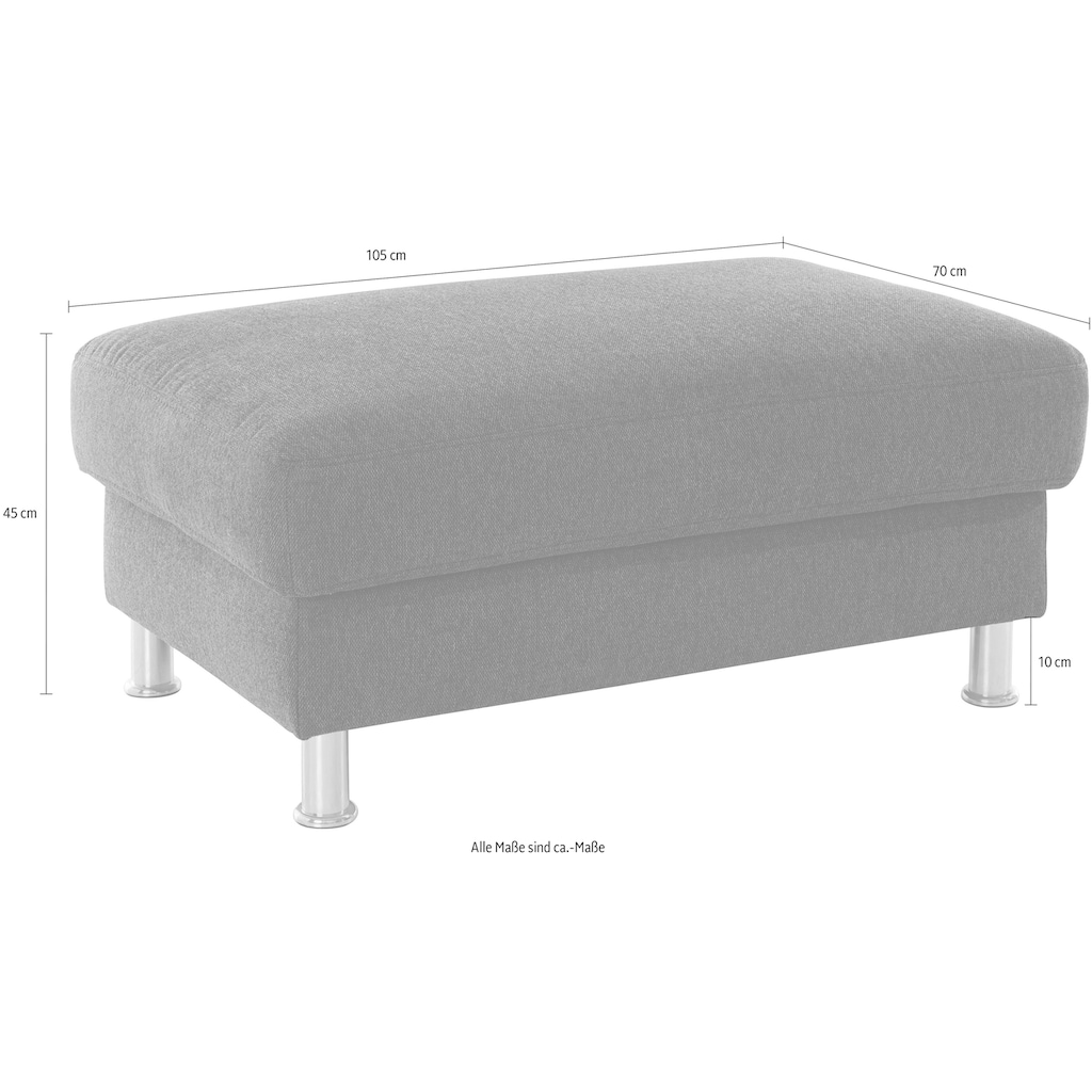 Nova Via Hockerbank, Hochwertiger Kaltschaum (Belastbarkeit bis 140 kg/Sitz) und wahlweise mit Aqua Clean Stoff für leichte Reinigung mit Wasser