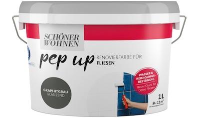 SCHÖNER WOHNEN-Kollektion Fliesenlack »pep up - graphitgrau«, glänzend, für Fliesen, 1 l kaufen