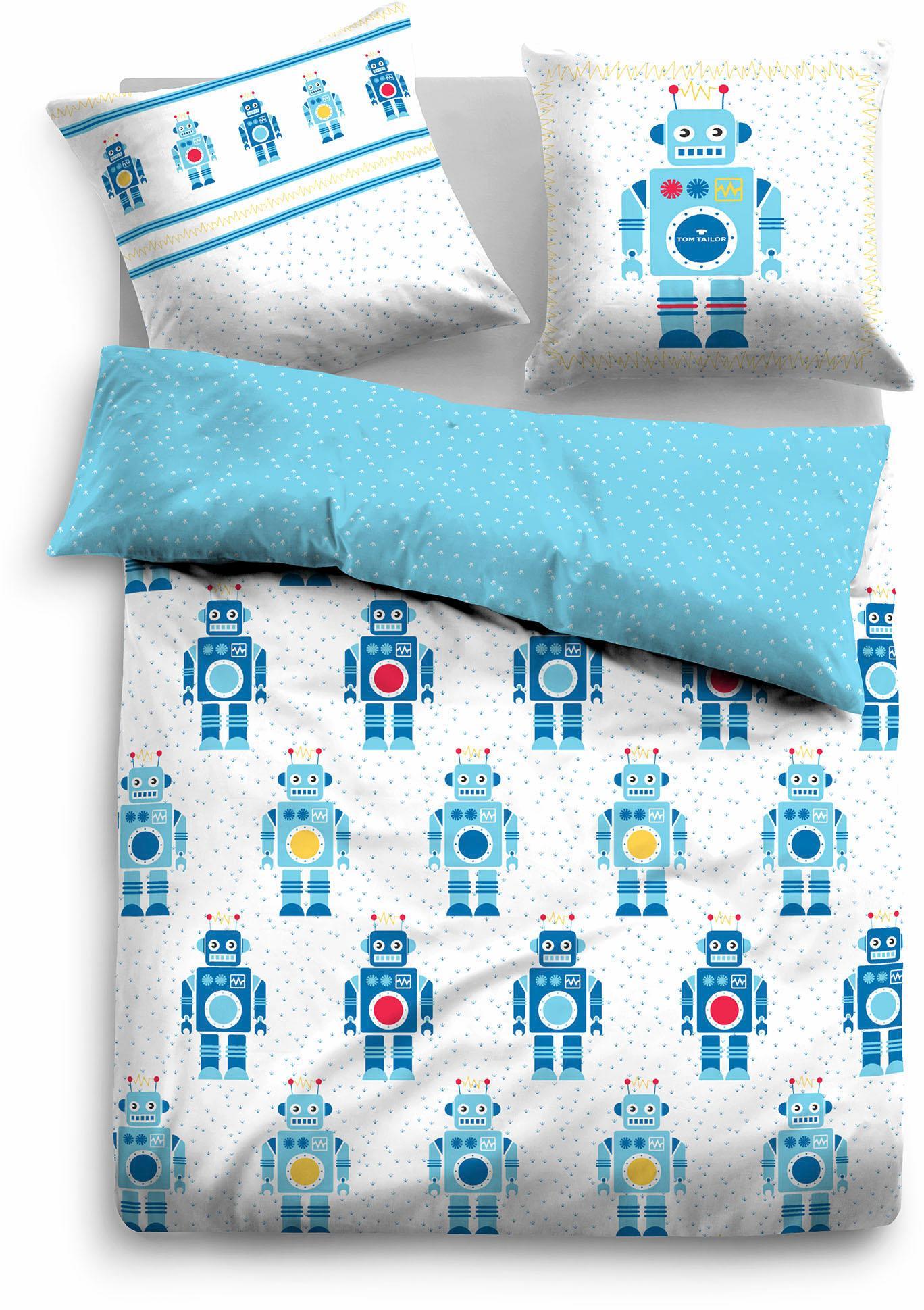 Kinderbettwäsche Tom Tailor Beni mit Robotern