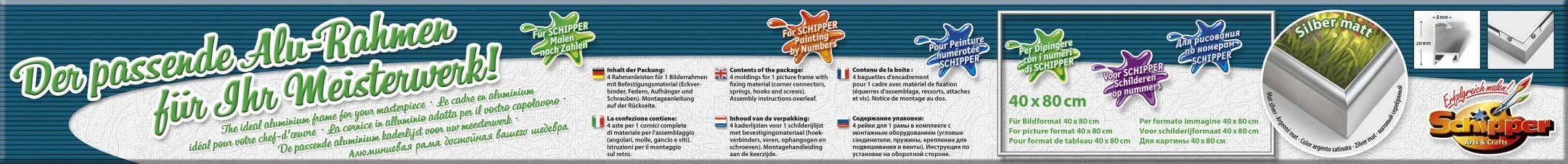 Bilderrahmen Alurahmen 40x80cm Schipper Arts /& Crafts