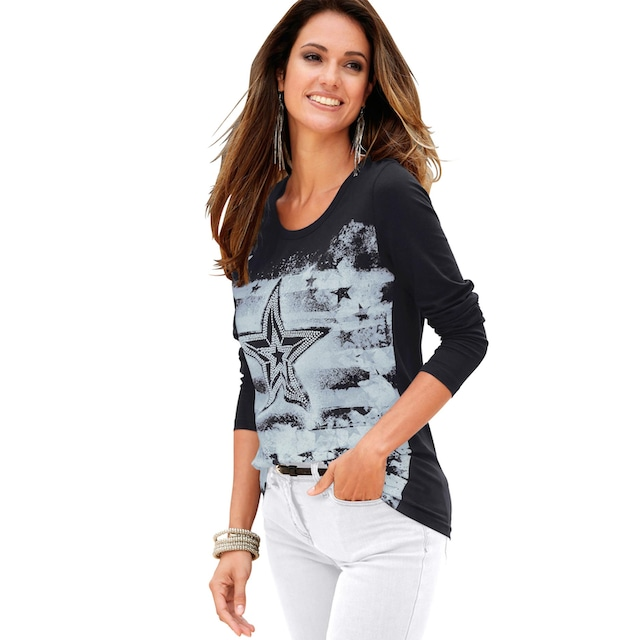 Classic Inspirationen Shirt mit coolem Sternen-Druck