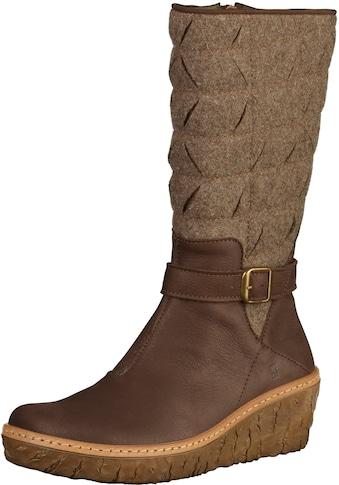 El Naturalista Keilstiefel »Leder/Textil« kaufen