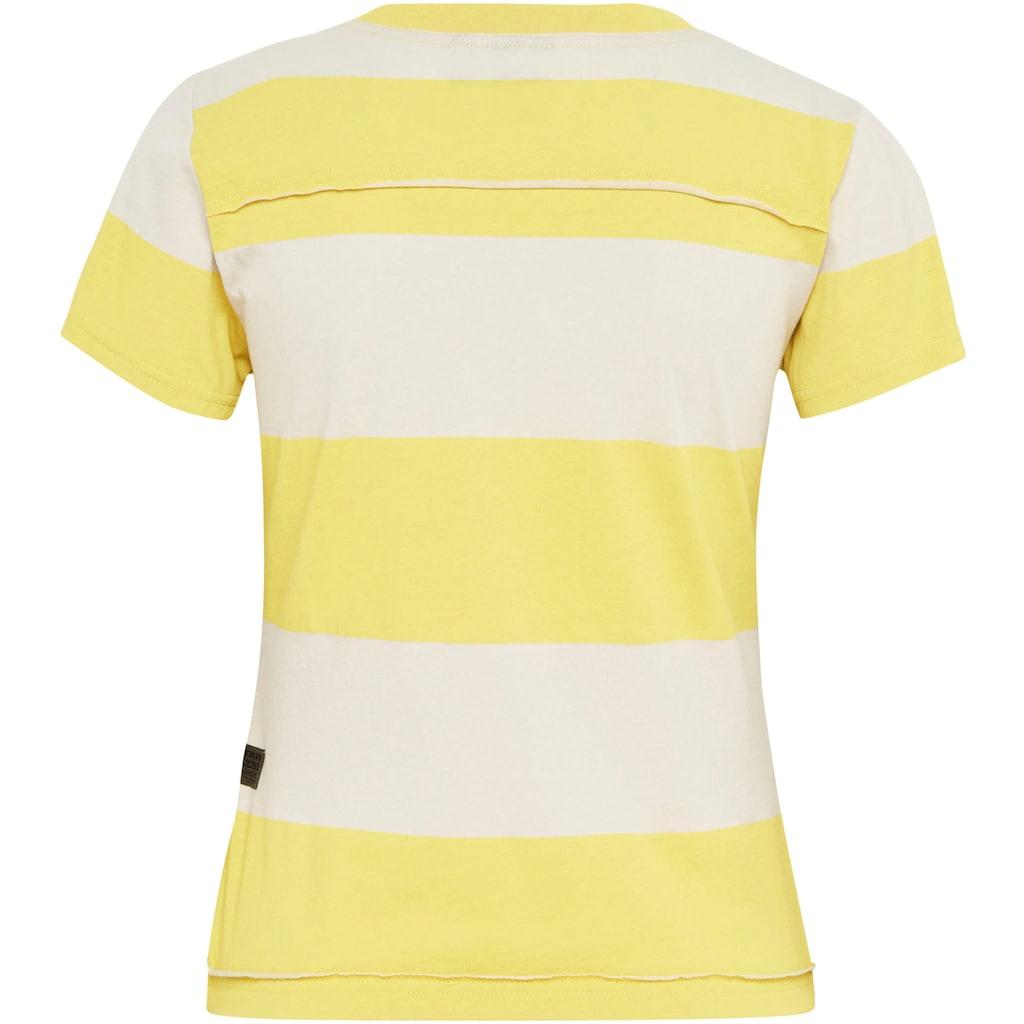 G-Star RAW Poloshirt »Slim Fit Wide Stripe T-Shirt«, mit horizontalen Streifenmuster